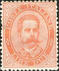 Italy Stamp Scott nr 51 - Francobolli Sassone nº 43 - Click Image to Close