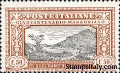 Italy Stamp Scott nr 168 - Francobolli Sassone nº 154 - Click Image to Close